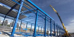 Steel structure buildings with natural lighting and ventilation