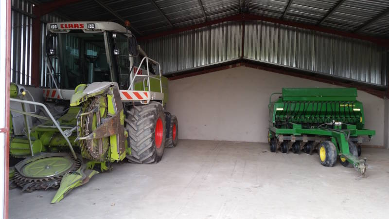 Garages For Tractors : Farm equipment storage shed preserve your expensive