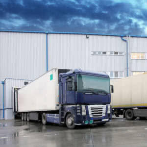 truck-loading-steel-structure-warehouse